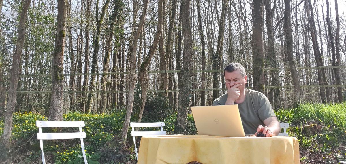Éric Robert, Directé général de PMB Services en télétravail