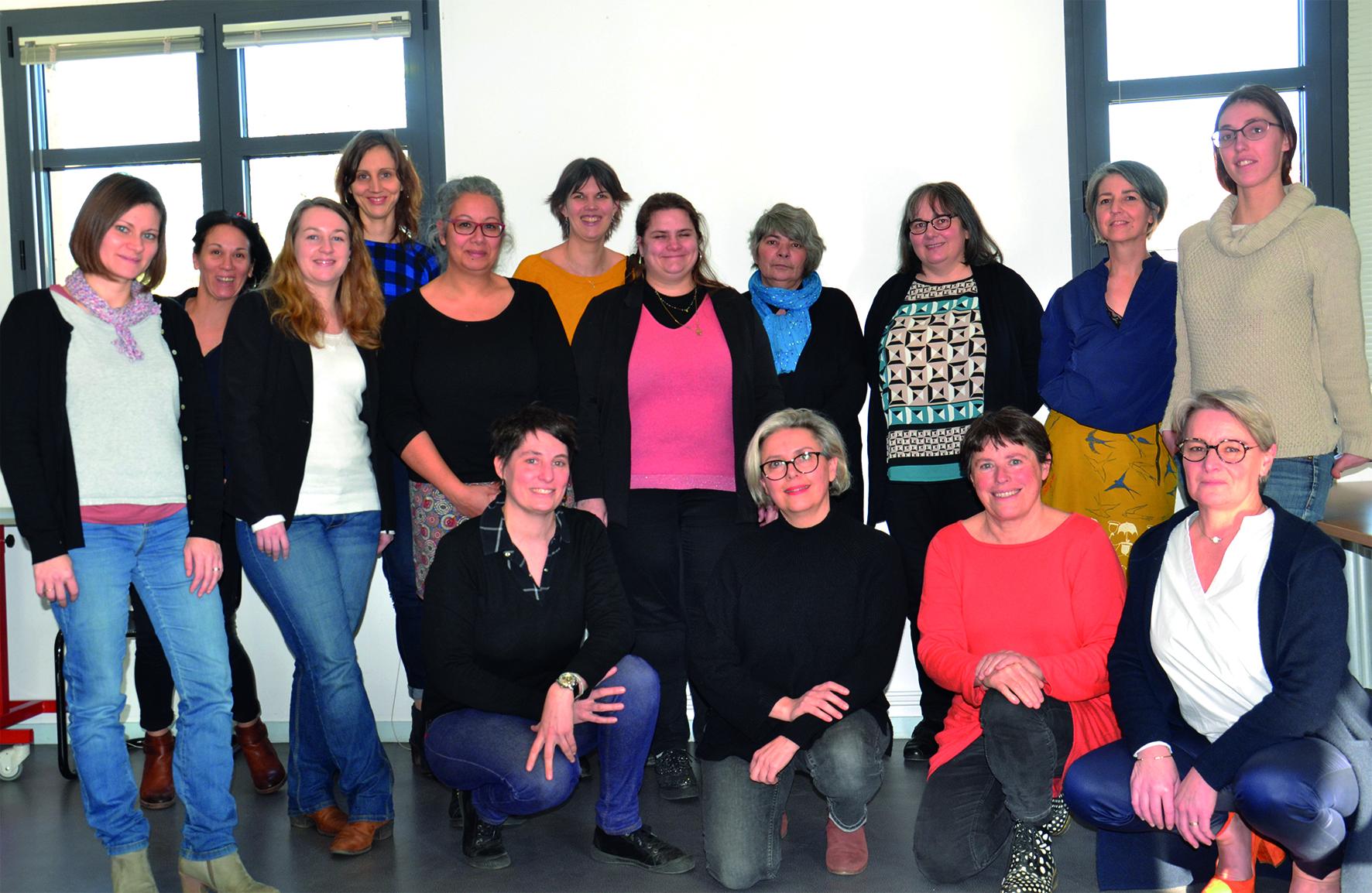 L'équipe de bibliothécaires du réseau Libellule de Roche aux Fées Communauté