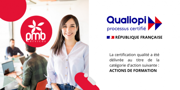 PMB Services obtient la certification Qualiopi !