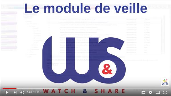 Nouveautés 4.2 - Le module de veille : Watch&Share